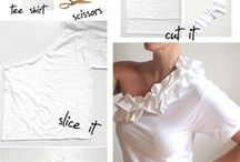 DIY upcycle clothing tutorials  / by Heather Cantu