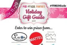 #FFMGiftGuide / This is where you'll find all of the amazing giveaways happening during Fab Frugal Mama's 2013 Holiday Gift Guide. A new giveaway each weekday for three weeks!!