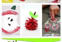 Falling into Fall / Kids crafts, eduction ideas and art for the fall!