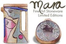 Mara Stoneware / With a steady hand each piece is carefully hand carved and glazed to create a unique piece of art.