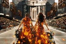 The Hunger Games /  The Hunger Games, Catching Fire, and the Mockingjay by Suzanne Collins and the movies  / by Kalee Anderson