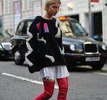 Stylish ladies on the streets