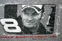 Dale Earnhardt Jr. and Sr. - NASCAR / Dale Earnhardt Jr and Sr. t-shirts, jackets, collectibles and more from Vintage Basement. www.vintagebasement.com #NASCAR