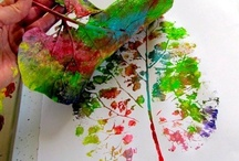 kids art / leaf art