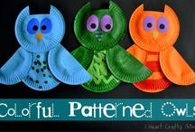 kids art / paper plate art