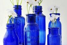Blue Glass / All shades of blue glass -- from sea glass to jewelry to glassware and beyond.
