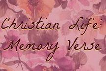 Christian Life: Memory Verse Work