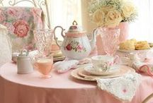 All Things Tea. / Just makes you feel good to see a prettyTeapot or Cup and Saucer. / by Vicki Cheng of Country Corner