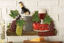 "Vineyard Decor / Inspired by the vineyards of Napa Valley and Italy, our Vineyard decor and products help you create that ""wine theme"" look for your home without costing you a fortune.  Find wine bottle holders, wall art, table linens and more. Our wine decor items work in any room in your home! Add a touch of wine country to your kitchen, family room, living room and more."