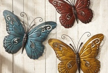 Butterfly Decorations / Collections Etc is your one-stop shop for dozens of unique Butterfly decorations for your Home.  From Indoor Wall art, to outdoor Garden items, you're heart will be a-flutter with excitement when you see all of our great Butterfly products!   / by Collections Etc.