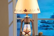 Primitive Country Decor / Give your home that warm, rustic feel with stars & berries, and the colors of burgundy, check plaids, and gold.  A timeless look that never goes out of style.