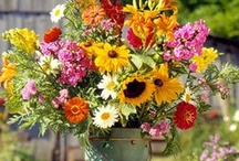 Flower Arranging / Take time to smell the flowers. / by Cheryl Lysy