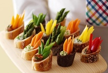 Bits~Bites~Appetizers / ~Start your event off right with yummy party recipes including finger foods and appetizers~stuffed mushroom, wings, cheese balls, onion blossom, chips...etc~ / by Lynn Scott