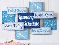 Laundry Room / Add some fun to your laundry room with great laundry room decor available at Collections Etc. In addition to decor, check out the many available laundry solutions like racks and shelves.