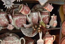 Red and White Transferware / Red and white dishes make my heart go pitter patter