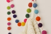 Felted Wool Balls / Oh, the possiblities