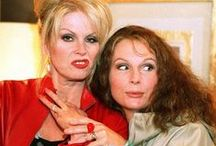 Absolutely Fabulous// / Eddie and Patsy, doing what the do best.