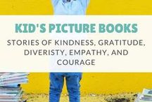 Kid's Books / Children's Picture Books that Empower kids. We're sharing stories and books for kids and families with messages of Kindness, Gratitude, Diveristy, Empathy, and Courage that spark imagination.