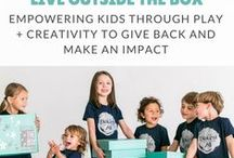 Parenting Tips: Outside The Box - a parenting tool kit / A parenting tool kit to help you spark conversations and empower your littles. We're a Subscription Box that provides kids crafts and activities, opportunities to learn Through Play. Empowering children through kindness, gratitude, courage, empathy and more to give back and make an impact. Community Service projects and Non Profit Engagement with kids. Social Emotional learning through play and creativty.