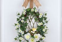 Wonderful Wreaths & Garlands / Enjoy beautiful artificial flowers in wreaths & garlands. Brighten up your front door, a mantel, or any wall in your home with these charming flower arrangements.