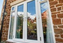 French Doors from Kingfisher / Double, open out patio doors in modern and energy efficient uPVC, with bespoke glazing and colours