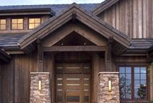 Rustic Custom / Rustic custom home in the Colorado mountains wrapped in stacked stone and wood panel siding on the exterior and contemporary finishes in the interior