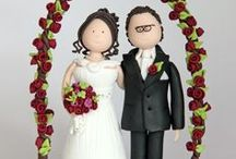 Hochzeitstortenfiguren  -Tortenfiguren für die Hochzeit / Individuelle Tortenfiguren für Ihre Hochzeit. Das besondere Higlight für die Hochzeitstorte! <3