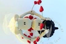 Tier-Brautpaare Hochzeitstortenfiguren für die Hochzeitstorte / Tier-Brautpaare als Hochzeitstortenfigur. Egal ob Sie Marienkäfer als Glückssymbol, Frösche, Drachen, Murmeltiere, Schafe oder andere Tiere auf Ihrer Hochzeitstorte haben wollen...ich erfülle jeden Wunsch <3