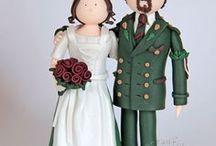 Trachten Brautpaare für die Hochzeitstorte - Hochzeitstortenfiguren / Tortenfiguren für die Hochzeit - Hochzeitstortenfiguren