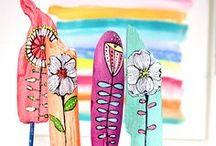 DIY NATUR kreativ / Basteln mit Dingen aus der Natur  Basteln mit Natur, Naturmaterialien, Basteln mit Holz, Federn, Kastanien, Blumen, Gräser, Muscheln, Steine bemalen