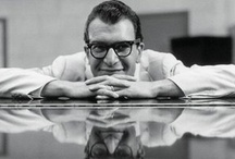 Dave Brubeck / Our tribute to the legend that was Dave Brubeck.  These extra large glasses are dedicated to Jazz Great Dave Brubeck, pianist. His wide-ranging style combines his classical training with his improvisational skills. His music is known for its unusual time signatures. He created one of the US Armed Forces' first racially integrated bands which was called 'The Wolf Pack'. http://blackeyewear.com/Brubeck/ #blackeyewear #largeglasses / by BLACK EYEWEAR