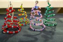 beaded ornaments / by Julie Hobbs