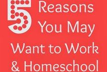 How to Work and Homeschool / A collection of posts from HowtoWorkandHomeschool.com as well as articles on related topics shared by FANS of the book. See also: Facebook.com/HowtoWorkandHomeschool  / by Pamela @RedWhiteandGrew