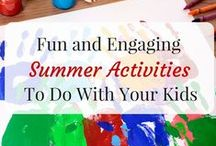 Summer / All things summer!  Free summer activities list, summer school printables, schedules and things to do!  Also find our favorite thing to do in our free time...backyard playground turned into a water park with our very own DIY water slide!