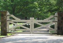 garden / modern landscape, minimalist, lawn pool, gates, arbors, grass / by Lori Weitzel