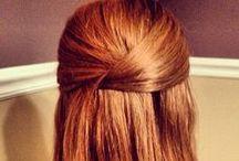 hair pretty / long hair styles, braids, pony tail, bun / by Lori Weitzel