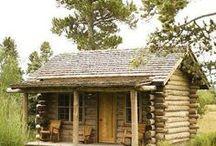 Log Cabins / My favorite type of home--log cabins