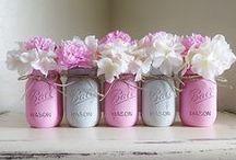 Crafts:  Mason Jar Crafts / Craft with Mason Jars.  Easy Mason Jar Craft Ideas.