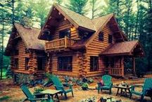 """Cabin In The Woods / """"When you're used to having electricity and then all of a sudden it's taken away, you're basically just one step from being a wild animal."""" ~Jeff Kinney / by Andrea K"""