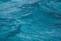 WATER / Blue, green, dark, white, quiet, deep, sparkling, fresh, loud, wavy.