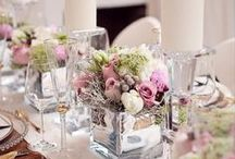 Wedding table arrangements
