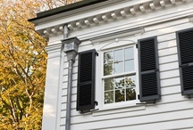 Authentic Shutters / Authentic wood shutters combine beauty and functionality.  Designed to actually close over a window or door, they protect from the elements, as well as provide privacy and security.