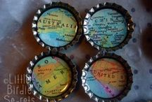 Crafting with Bottle Caps / by Leslie K