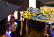 CSU Graduation Caps / Our students went all out decorating their graduation caps!