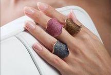 Glamour / Δώστε χρώμα, λάμψη και μοδάτο στυλ στις καθημερινές σας εμφανίσεις με τα νέα μας δαχτυλίδια και βραχιόλια με διαμανταρισμένο σμάλτο!  / by Li-LA-LO Jewels