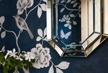 Chinoiserie / Oriental pattern and antique-inspired everything from cabinet knobs to lanterns and chandeliers