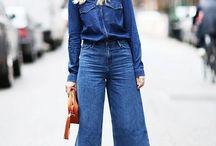 Denim Jeans outfit / How to combine different pieces of Denim with style. Let yourself inspire...     Cómo combinar diferentes piezas de Denim con estilo. Dejate inspirar con estas ideas...