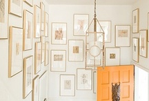 gallery walls and other displays / visualize ideas to hang photos and art in your home / by Amy Jo Bland