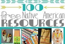 Native American Nook / Study of Native Americans, printable and hands-on ideas. Free unit study and free native american lapbook for homeschool kids.  #nativeamericans