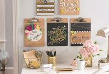 Organizing/ Home Office / Tips for organizing, clutter free, simplify, storage systems, command stations